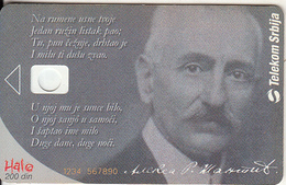 SERBIA - Aleksa Santic(1868-1924), Telecom Srbija 200 Din, Orange CN : 1234 567890, 02/04, Printing Test Card - Yugoslavia