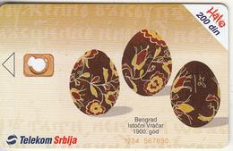 SERBIA - Easter/Beograd, Telecom Srbija 200 Din, CN : 1234 567890, 04/03, Printing Test Card - Jugoslawien