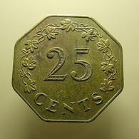Malta 25 Cents 1975 - Malta