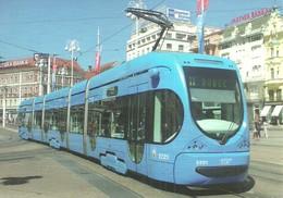 TRAM * TRAMWAY * RAIL * RAILWAY * RAILROAD * TMK 2200 NT 2200 * ZET ZAGREB * CROATIA CROATIAN * Top Card 0447 * Hungary - Tram