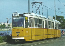 TRAM TRAMWAY * RAIL RAILWAY RAILROAD * GANZ MAVAG CSMG GCSM ICS * BKV GELLERT SQUARE BUDAPEST * Top Card 0450 * Hungary - Tram