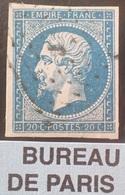 "R1615/2024 - NAPOLEON III N°14A - BUREAU "" J "" De PARIS - 1853-1860 Napoléon III."