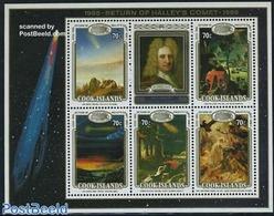 Cook Islands 1986 Halleys Comet S/s, (Mint NH), Science - Astronomy & Astrology - Halley's Comet - Astronomie