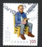"""Sc. # 2524 Art Canada, Joe Fafard """"Dear Vincent"""" U.S. Rate Booklet Single Used 2012 K667 - 1952-.... Règne D'Elizabeth II"""