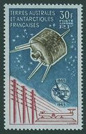 + TAAF / FSAT / FRENCH ANTARCTIC TERR: Mi #32 Yv PA #9 Sc #C8 Centenary Of UIT / Satellite (1965) MNH ** Neuf [SALE] - Telekom