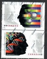 Sc. # 2061 & 62 Nobel Prize Winners Se-Ten. Pair 2004 Used K668 - 1952-.... Regering Van Elizabeth II