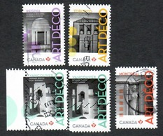 Sc. # 2472-76 Architecture, Art Deco Set Used 2011 K680 - 1952-.... Règne D'Elizabeth II