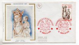 FRANCE - FDC - PREMIER JOUR - CROIX ROUGE - VIERGE A L'ENFANT - 26-27/11/83 A ENGHIEN-LES-BAINS - - 1980-1989