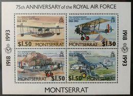 129.MONTSERRAT 1993 STAMP M/S ROYAL AIR FORCE . MNH - Montserrat