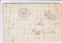 LAC De Caen (14) Pour Bayeux (14) - 21 Août 1858 - CAD Type 15 + Ambulant - TDT 30 - Cachet Après Le Départ - Préfecture - Marcophilie (Lettres)