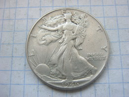 United States , Half Dollar 1946 - 1916-1947: Liberty Walking