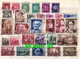 1952 Compl. –used/oblitere (O) Yvert Nr.-702/731Bulgarie/ Bulgaria - Années Complètes
