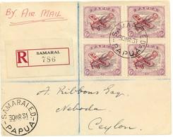 Papua 1931 - Airmail To Ceylon - RRR - Papua-Neuguinea