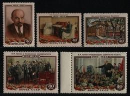 Russia / Sowjetunion 1954 - Mi-Nr. 1696-1700 ** - MNH - Lenin (II) - Unused Stamps