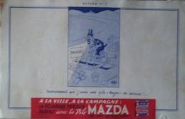 Buvard – MAZDA N°7 – Pile, Eclairage - Piles