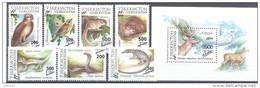 2015. Uzbekistan, Fauna, 7v + S/s With New Overprint, Mint/** - Usbekistan