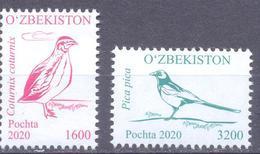 2020. Uzbekistan, Definitives, Birds, 2v, Mint/** - Usbekistan
