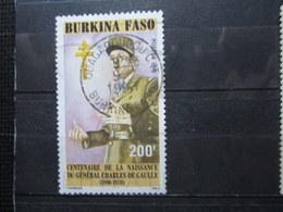 "VEND BEAU TIMBRE DU BURKINA FASO N° 829 , OBLITERATION "" OUAGADOUGOU "" !!! (a) - Burkina Faso (1984-...)"