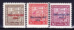 Slovaquie 1939 Mi 3-4+6 (Yv 2-3+5), MNH)** - Nuovi