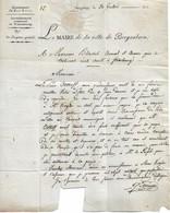 Lettre Du Maire De Bergzabern (Allemagne) à Un Avocat De Strasbourg, 20/12/1813 - Documenti Storici