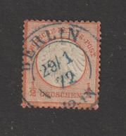 ALLEMAGNE . EMPIRE -- 3 De 1872  - Oblitéré  à  BERLIN  En 1872  - 1/2.g . Vermillon  - 2 Scannes - Gebruikt