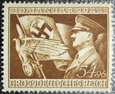 ALLEMAGNE REICH N°785 NEUF** Anniversaire Parti Nazi Hitler National Socialisme Croix Gammée - Nuevos