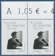 2019 - Louise De VILMORIN -- BLIND ZAHN -- ABSENCE PERFORATION -- - Variétés Et Curiosités