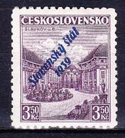 Slovaquie 1939 Mi 19b (Yv 18a), MNH)** Signé, Pd De Gomme - Nuovi