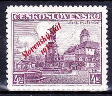 Slovaquie 1939 Mi 20 (Yv 19), MNH)** Signé, - Nuovi