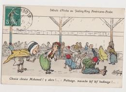 Cpa Fantaisie.L.Chagny , Dessin, édit.Alger /Patinage . Débuts D'Aïcha Au Skating-Ring Americo-Arabe - Chagny