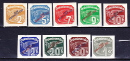 Slovaquie 1939 Mi 26-34 (Yv TPJ 1-9), MNH)** - Nuovi