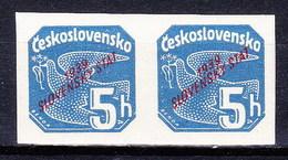 Slovaquie 1939 Mi 27 (Yv TPJ 2), MNH)** Paire - Nuovi