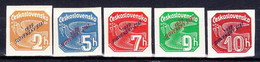 Slovaquie 1939 Mi 26-30 (Yv TPJ 1-5), MNH)** Serie Court - Nuovi