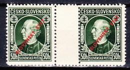 Slovaquie 1939 Mi 24 (Yv 30), MNH)** Paire Avec Interpaneau - Nuovi