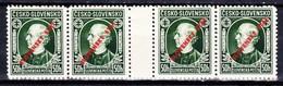 Slovaquie 1939 Mi 24 (Yv 30), MNH)** Bande De 4 Avec Interpaneau - Nuovi