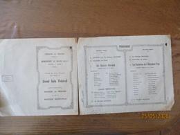 COMMUNE DE PRISCHES DIMANCHE 22 MARS 1953 GRAND GALA THEÂTRAL AVEC LE CONCOURS DE LA JEUNESSE DE PRISCHES ET DE LA MUSIQ - Programs