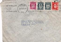 Lettre Norvège 1951 (Oslo) - Noruega