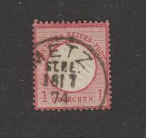 ALLEMAGNE . EMPIRE -- 4 Ou 16 De 1872  - Oblitéré  à  METZ En 1874  - 1.g . Rose-carminé  - 2 Scannes - Allemagne