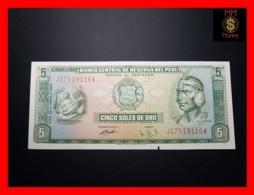 PERU 5 Soles De Oro 20.6.1969  P. 99 Hole  UNC - Peru