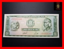 PERU 5 Soles De Oro 15.8.1974  P. 99  UNC - Peru