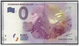 Billet Touristique 0 Euro 2016  Chamonix Mont-Blanc 3842m - Essais Privés / Non-officiels
