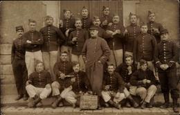 Photo Cp Cholet Maine Et Loire, Regiment, Französische Soldaten, Gruppenbild - Otros Municipios
