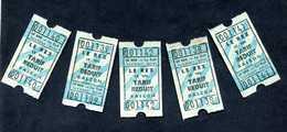 """Lot De 5 Tickets De Cinéma """"Le Rex - Le Teil"""" 07 Ardèche - Tickets D'entrée"""