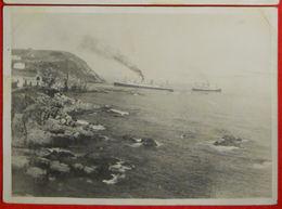 66 Port-Vendres Iles Baléares 1930 Navire El Goléa échouage Sur Rochers  Photo éditeur Sanchez 17.8x12.8 Cm Etat - Port Vendres
