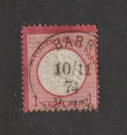 ALLEMAGNE . EMPIRE -- 4 Ou 16 De 1872  - Oblitéré  à  BARR  En 1874  - 1.g . Rose-carminé  - 2 Scannes - Gebruikt