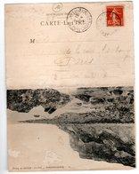 Arromanches Carte Double , Falaise De Tracy  Et Cote  à Marée Haute - Arromanches