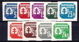 Slovaquie 1939 Mi 55-66 Y (Yv TPJ 19-27), MNH)** - Slovaquie