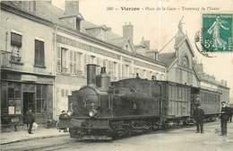 18 VIERZON - Place De La Gare - Tramway De L´Indre - Vierzon