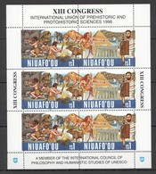 D1425 1996 NIUAFO'OU PREHISTORIC ANIMALS SCIENCE XIII CONGRESS #303-4 MICHEL 25,5 EURO SH MNH - Stamps