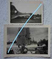 Photox2 CRASH Bombardier US AIR FORCE Bomber B17 KNOKKE LE ZOUTE 1944 Avion Aircraft Bomber Aviation - Aviation